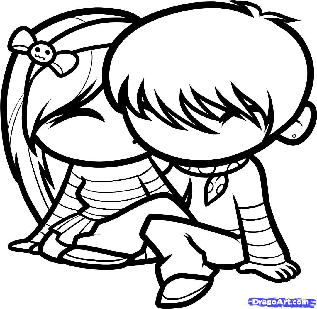 1081x1054 Cute Love Drawings How To Draw Cute Love, Cute Love, Step By