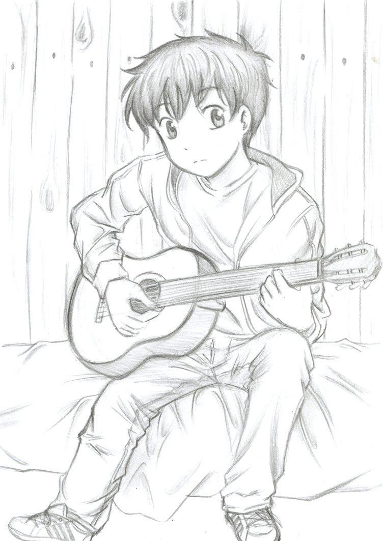 752x1063 Cute Guitar Boy Drawings Guitars, Free Credit
