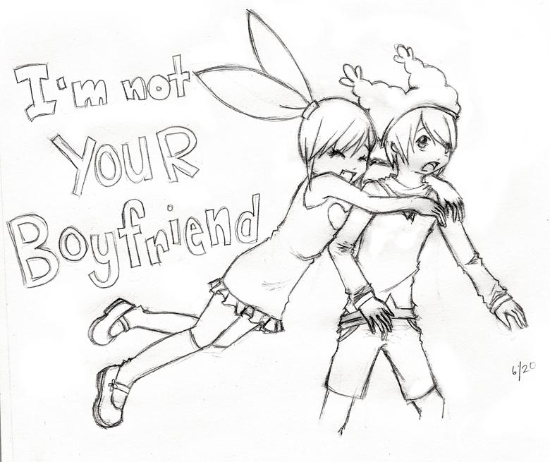 780x655 I'M Not Your Boyfriend By Almarabel