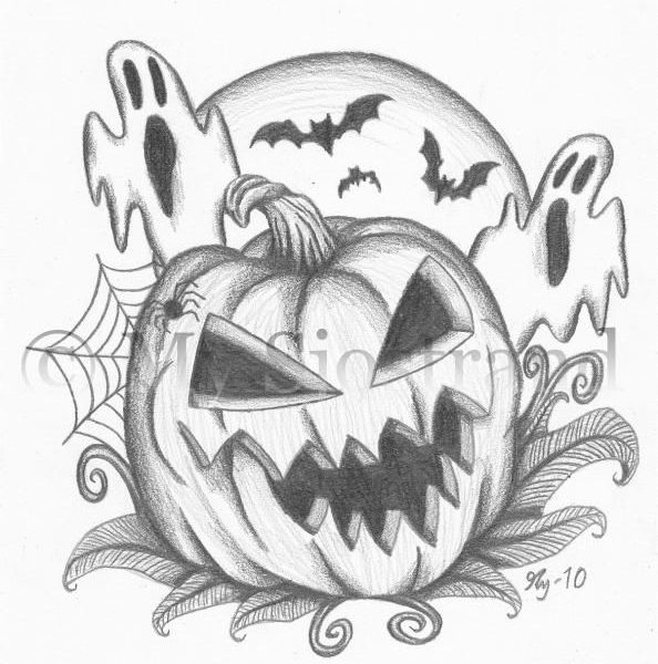 594x600 Halloween Images To Draw Best 25 Halloween Drawings Ideas