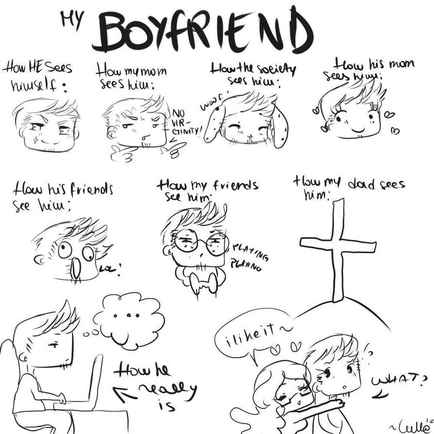 894x894 Cute Drawing For My Boyfriend