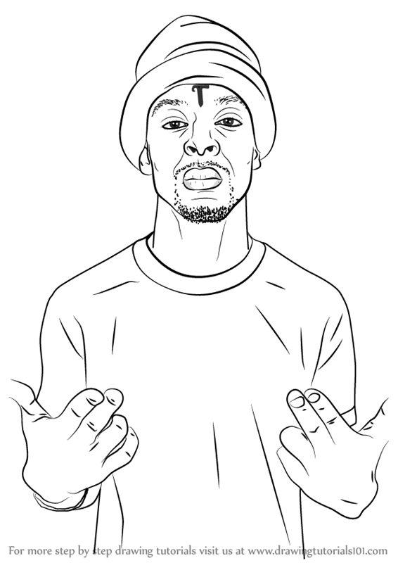 566x800 Learn How To Draw 21 Savage (Rappers) Step By Step Drawing Tutorials