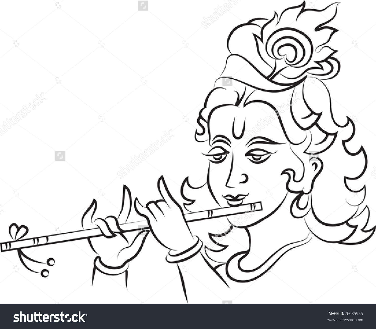 1500x1312 Simple Sketches Of Lord Krishna Simple Drawing Of Lord Krishna