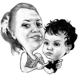 270x270 Custom Mother's Day Gifts Mother's Day Caricature Or Portrait