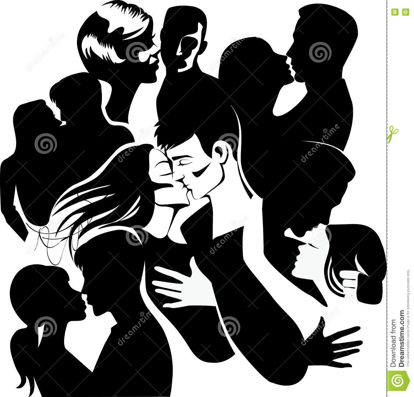 1356x1300 Black And White Drawings Of People In Love