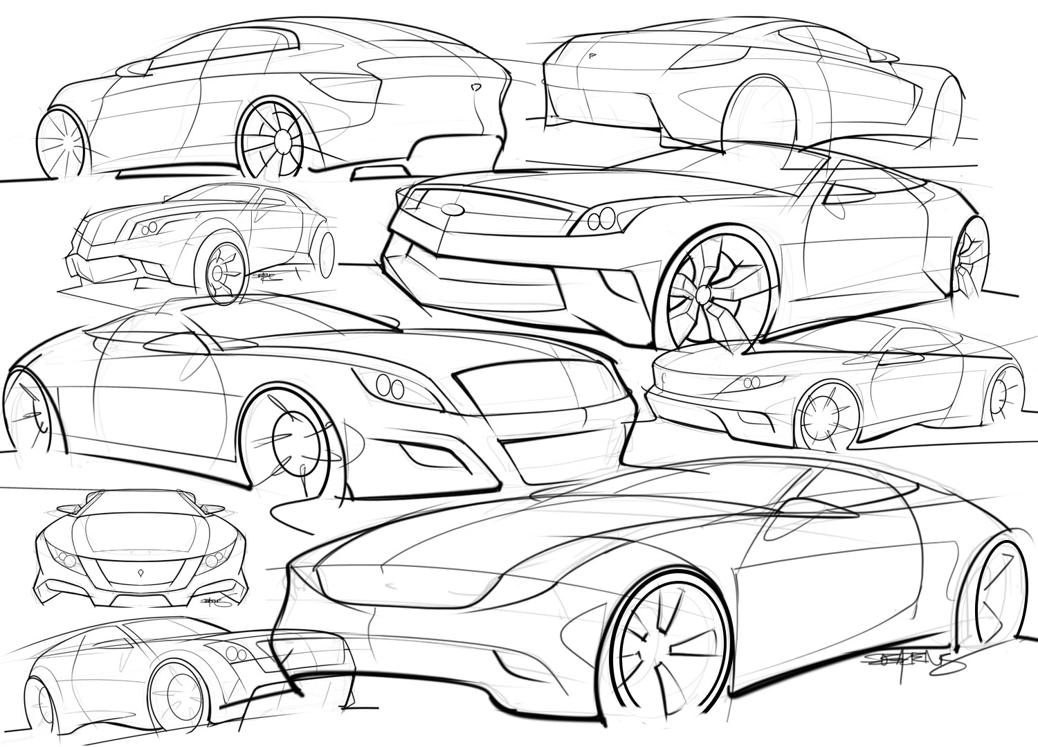 1500x1079 Car Sketches Scottdesigner