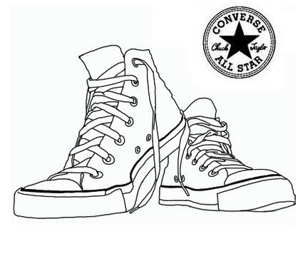 432x359 Converse Shoes Coloring Pages Shoes Coloring Page
