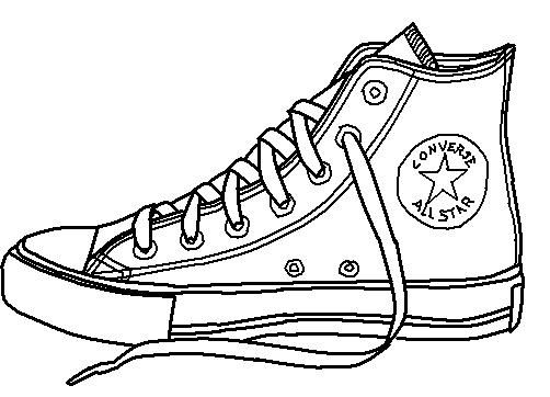 502x362 Converse Shoe Lineart By