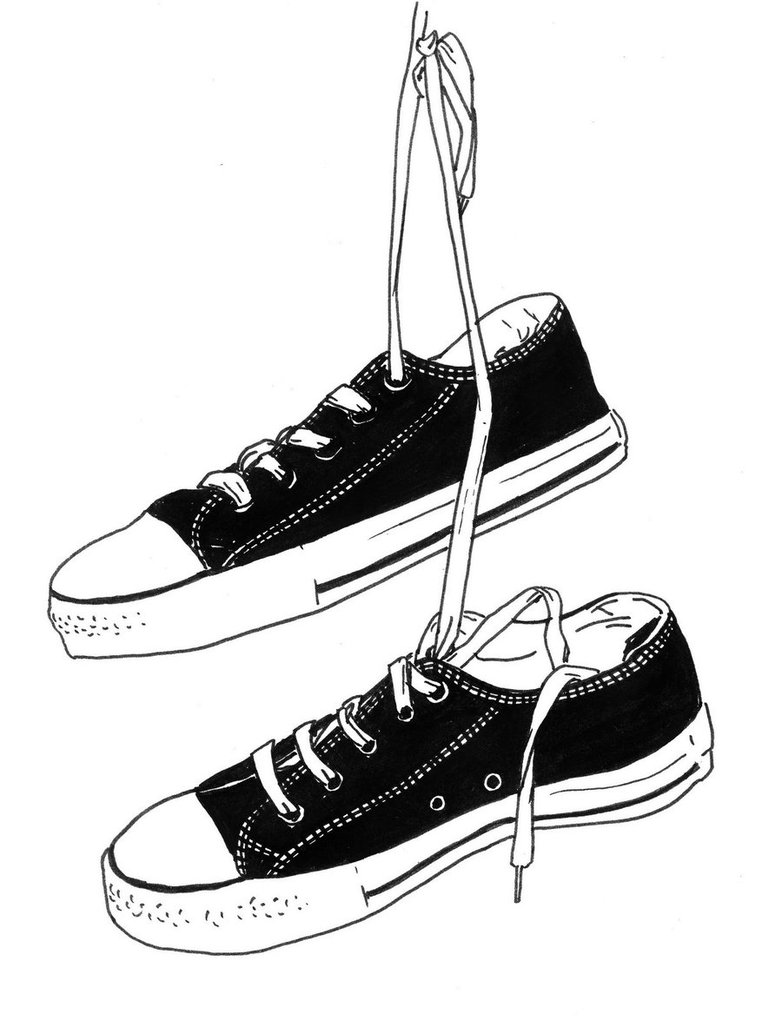 782x1021 Felt Tip Hanging Converse By Rosiebudconnell