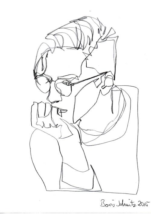 500x707 Borisschmitz One Continuous Line Drawing By Boris