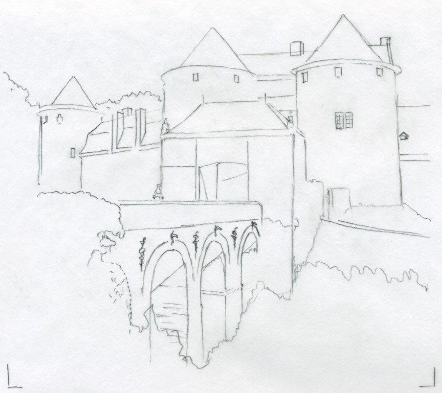 864x769 Castle Drawings For Inspiration And Fun