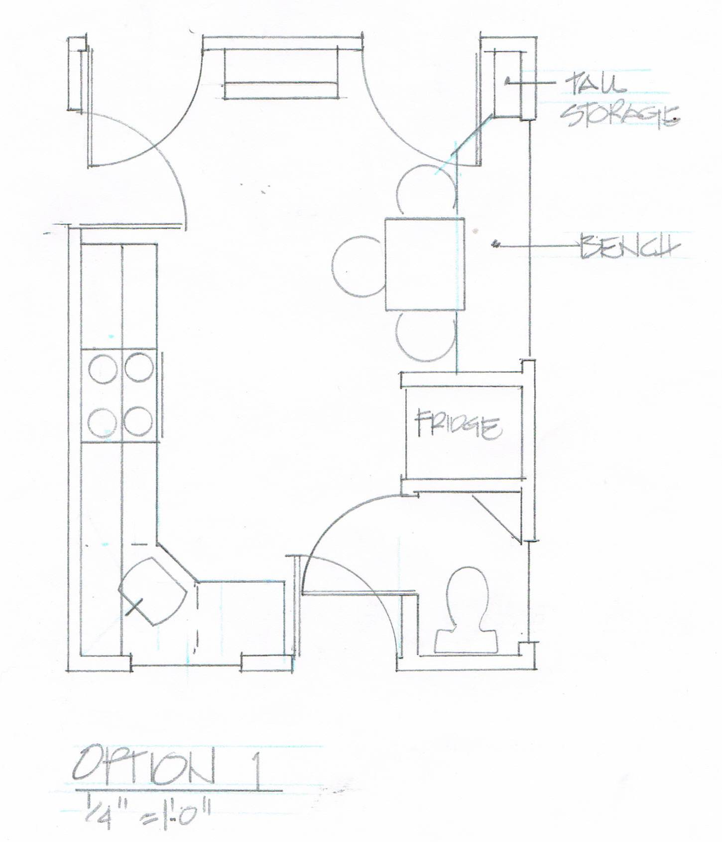 1450x1692 Kitchen Clients Drawing Autocad Archicad Planner Designs Get