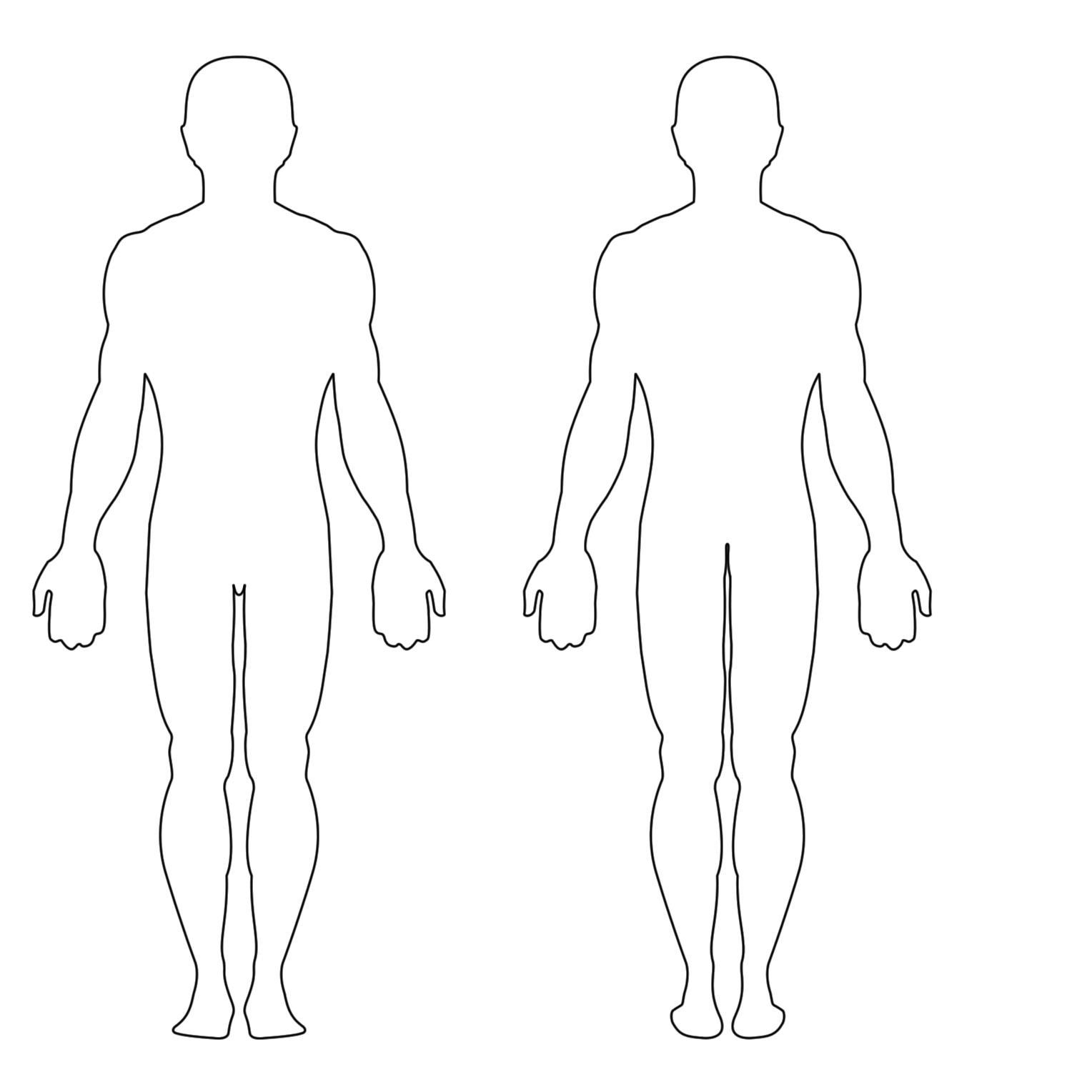 Drawing Outline Of Human Body