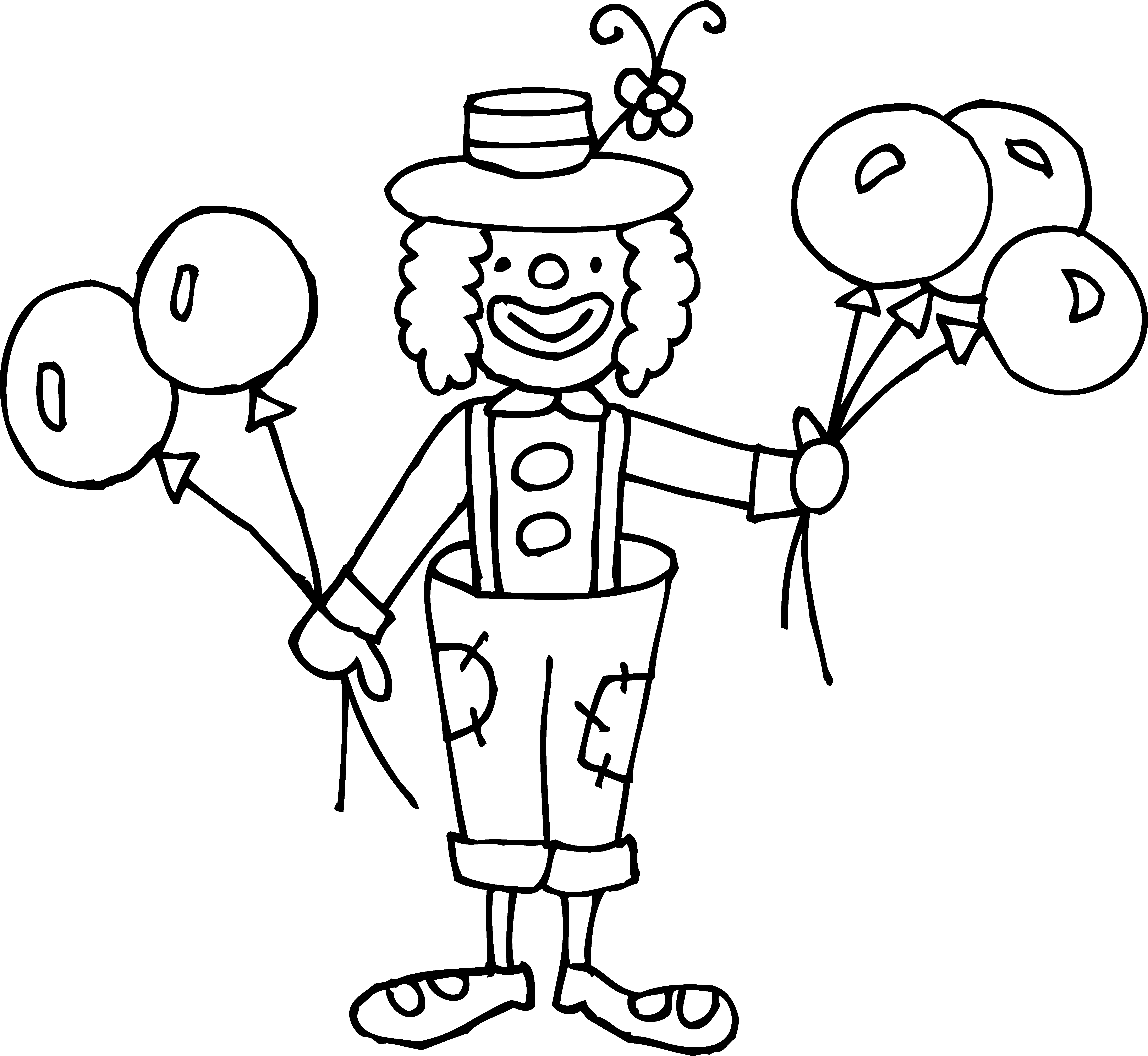 5531x5087 Astounding Inspiration Clown Outline Silly Coloring Page Free Clip