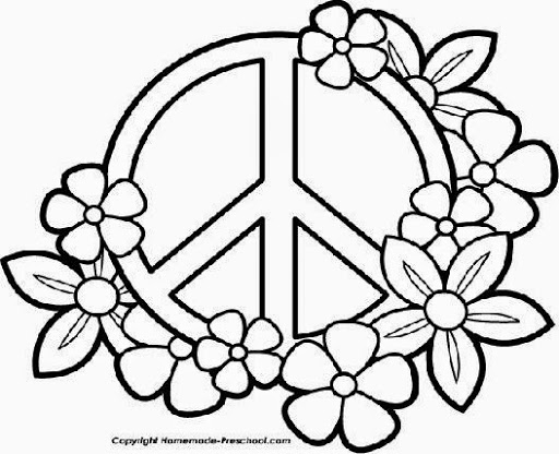 512x416 Peace Sign Coloring Pages Draw Mandalas Pinterest