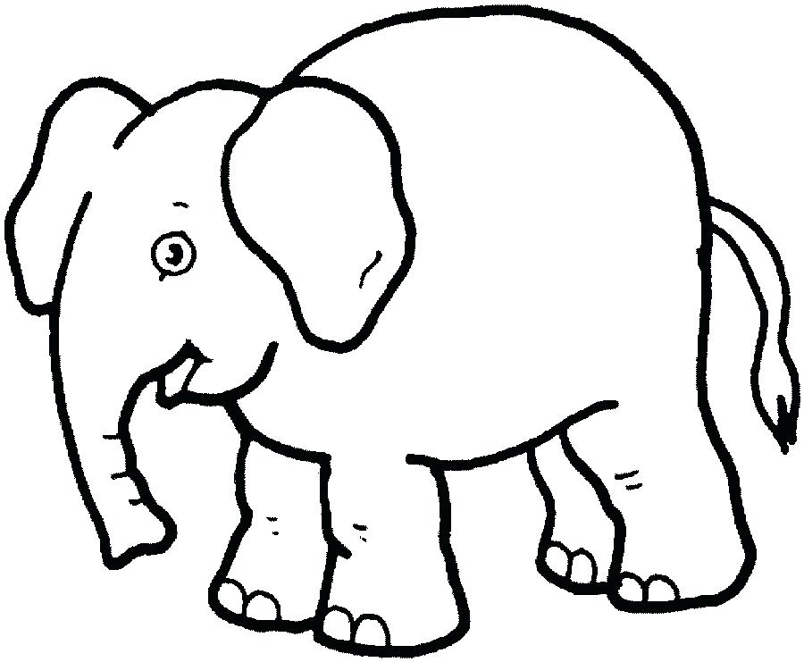 900x741 Simple Animal Coloring Pages Elephants To Color Coloring Pages