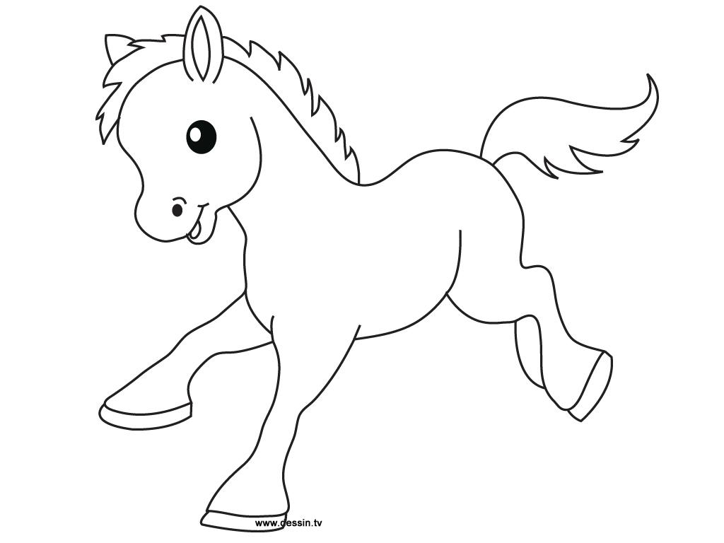1024x768 Drawn Farm Animals Little Horse
