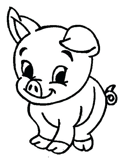 435x557 Epic Cute Cartoon Animals Coloring Pages Crayola Photo Best Pig