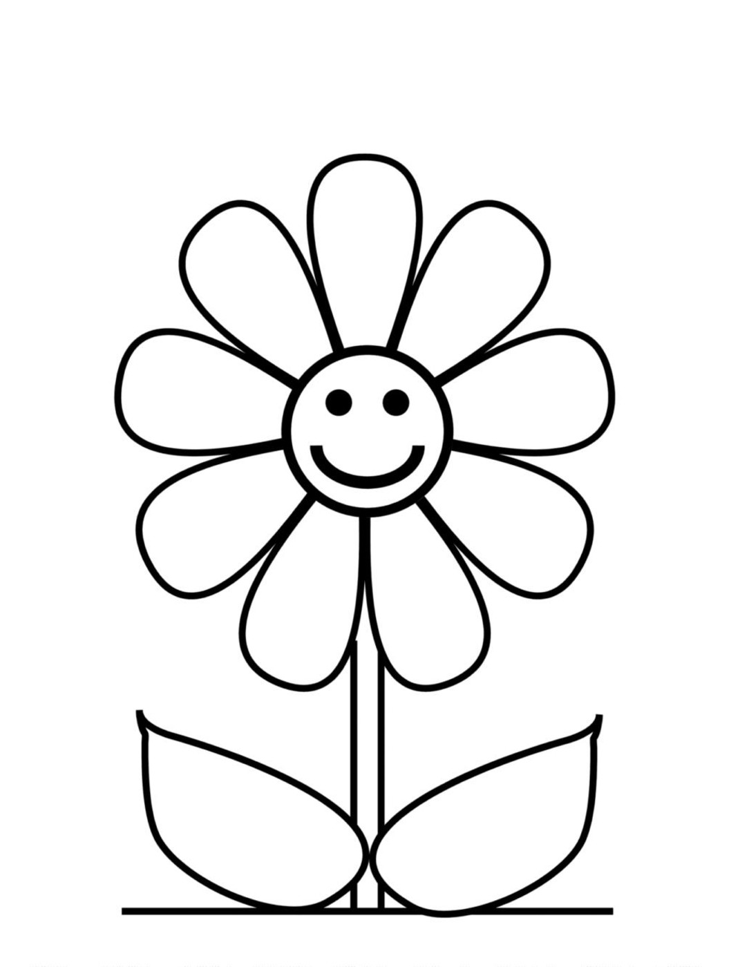 1071x1400 Coloring Pages Of Flowers For Kids
