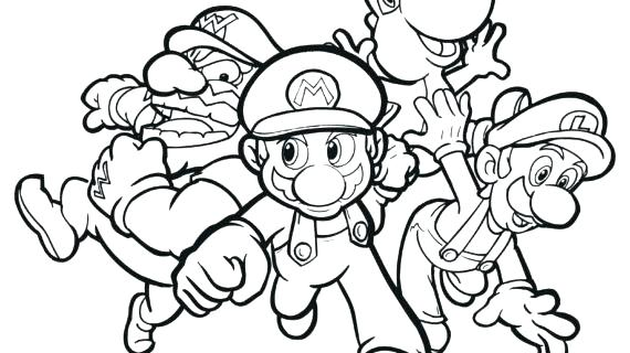570x320 Mario Party Coloring Pages Paper Coloring Page And Drawing Free