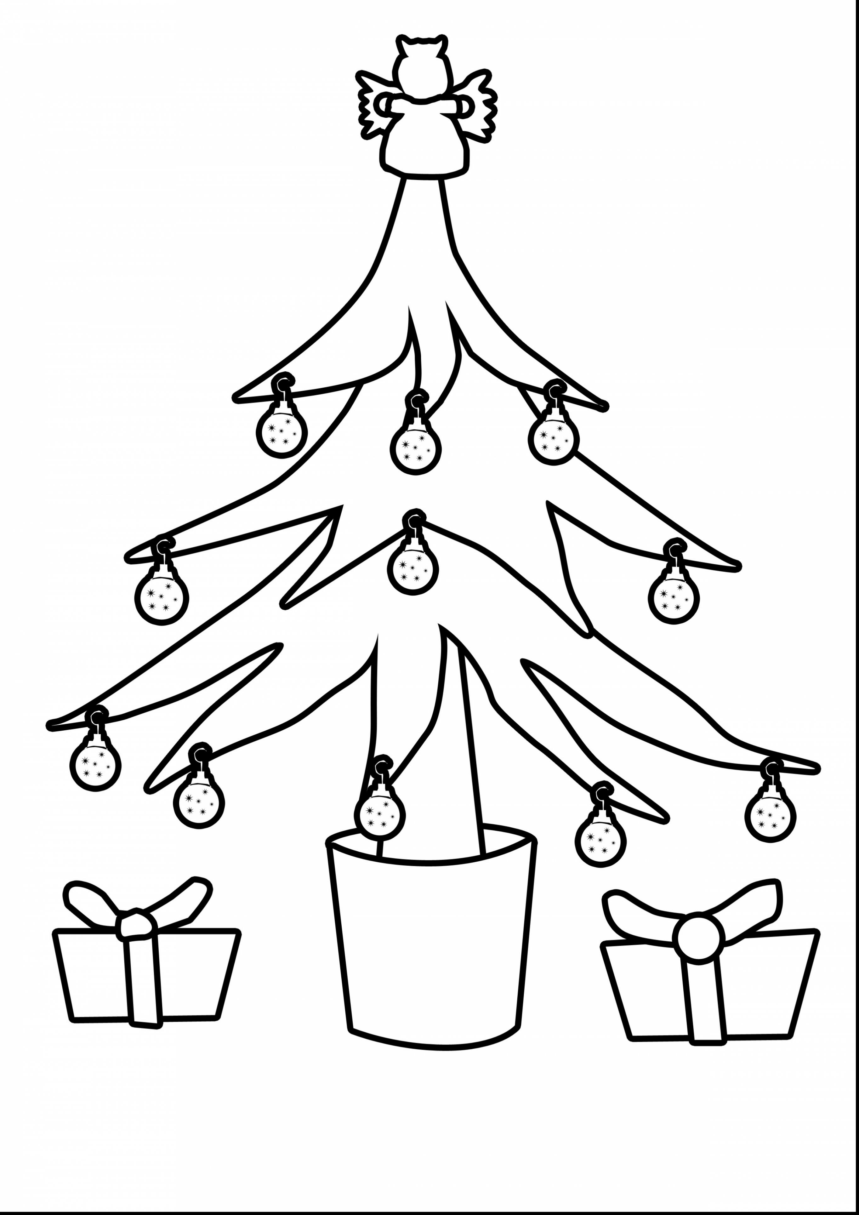 2728x3858 Superb Christmas Tree Outline Drawing With Coloring Pages