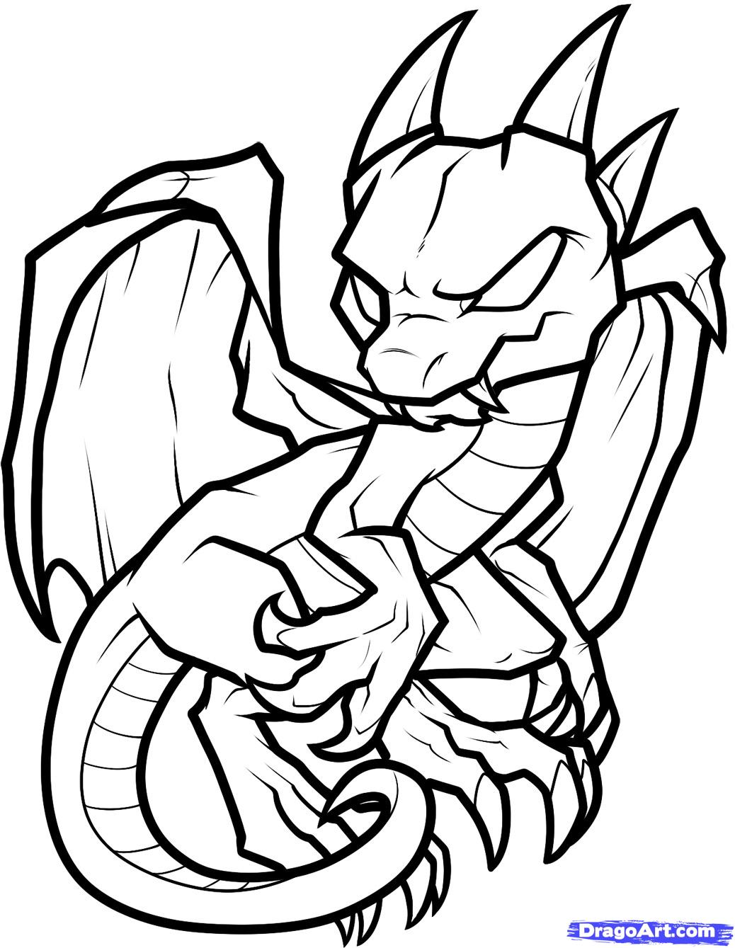 cute dragon breathing fire coloring page free printable coloring ...