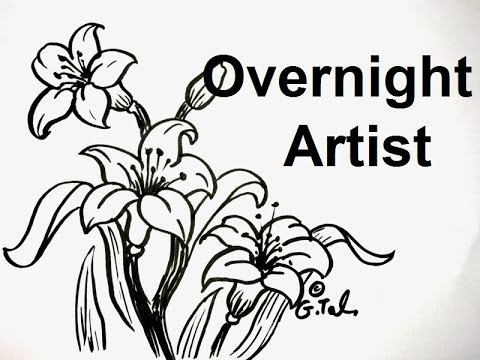 Drawing Pictures Of Flowers Step By Step