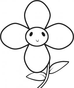 255x302 How to draw how to draw a flower for kids