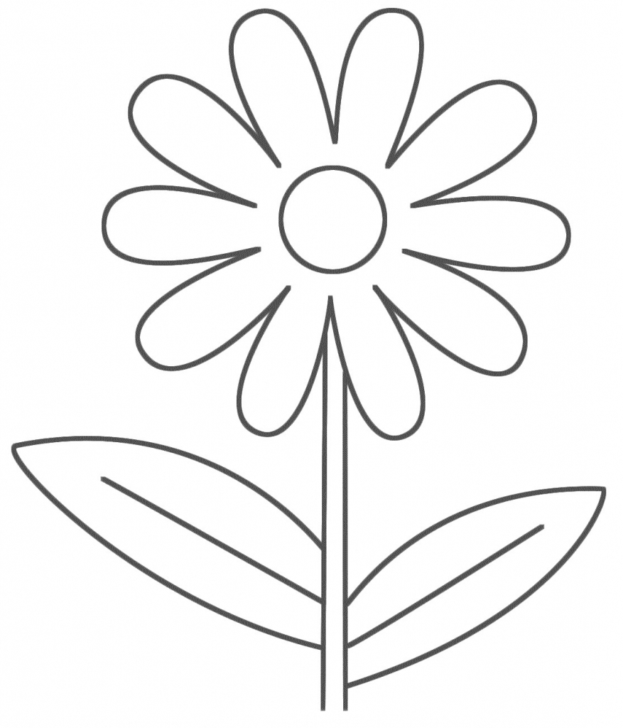 877x1024 A Drawing Of A Flower Simple Flower Drawing For Kids Drawing