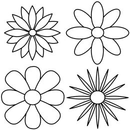 260x260 The 25+ best Simple flower drawing ideas on Pinterest Easy