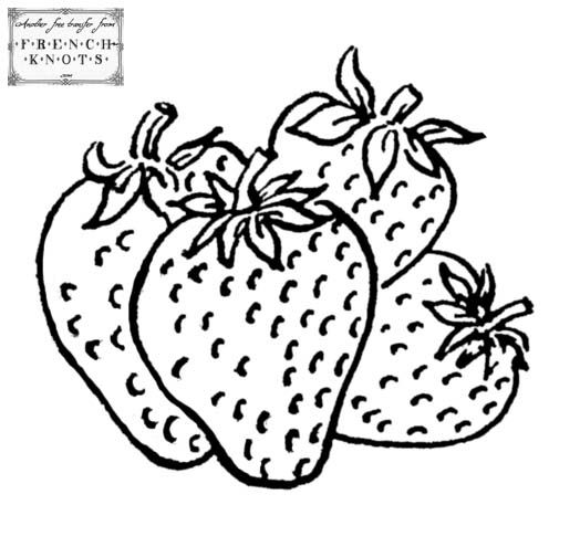 524x495 Drawn Strawberry Fruits And Vegetable