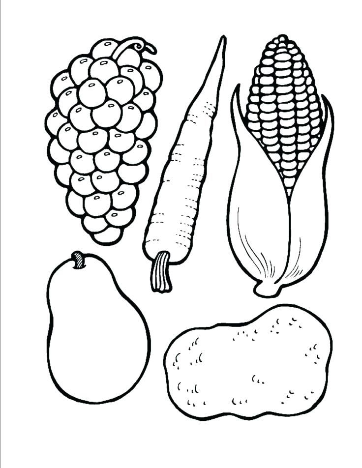 736x952 Fruits And Vegetables Coloring Sheets Related Post Free Printable