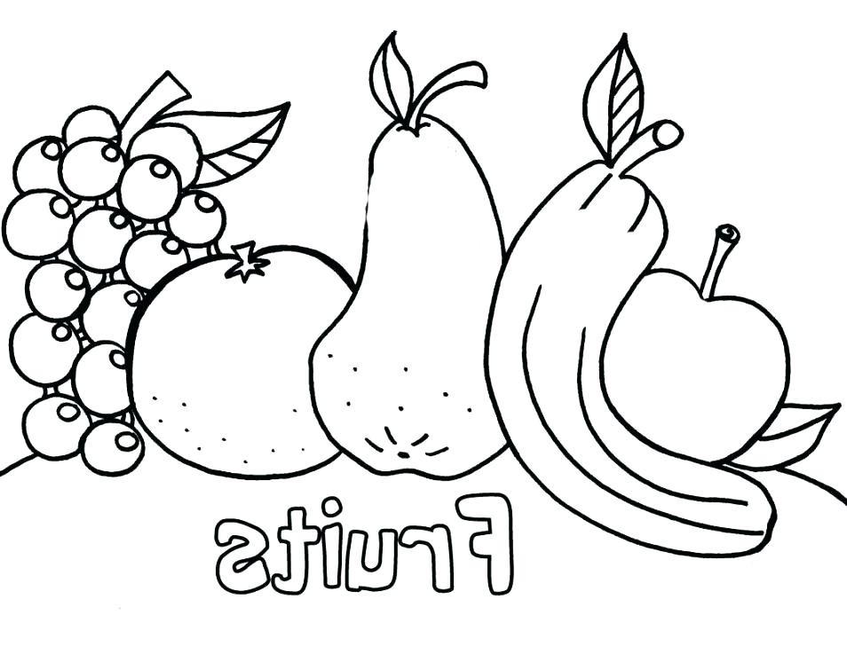 954x738 Fruits Coloring Book And Coloring Pages Of Fruits And Vegetables