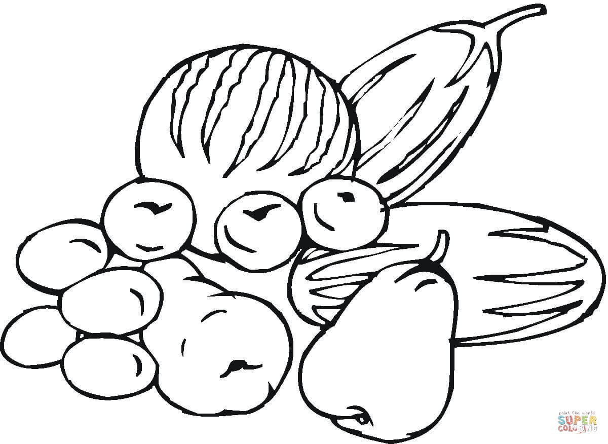 1200x876 Fruits And Vegetables Coloring Page Free Printable Coloring Pages