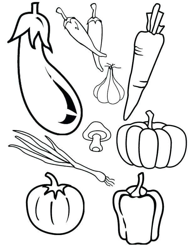 600x787 Luxury Fruits Coloring Pages Image