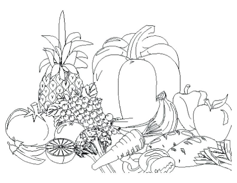 792x612 Vegetable Coloring Pages 15 In Addition To Fruit And Vegetable