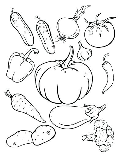 392x507 Vegetable Coloring Pages Fruit Vegetable Coloring Pages Printable
