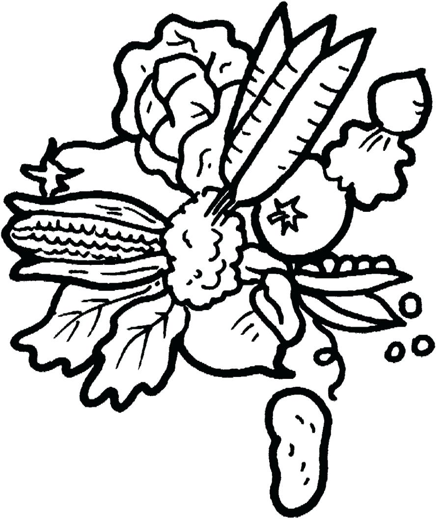900x1056 Coloring Coloring Pages Of Fruits And Vegetables