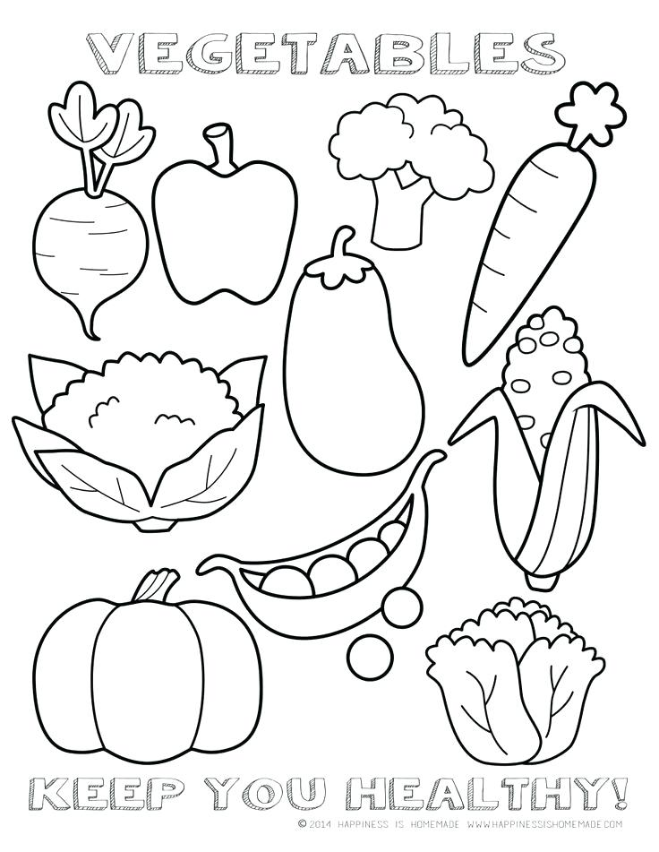 736x951 Coloring Pages Of Fruits Healthy Vegetables Coloring Page Sheet