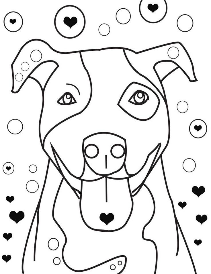 736x952 Pitbull Coloring Pages Coloring Pages Coloring 6