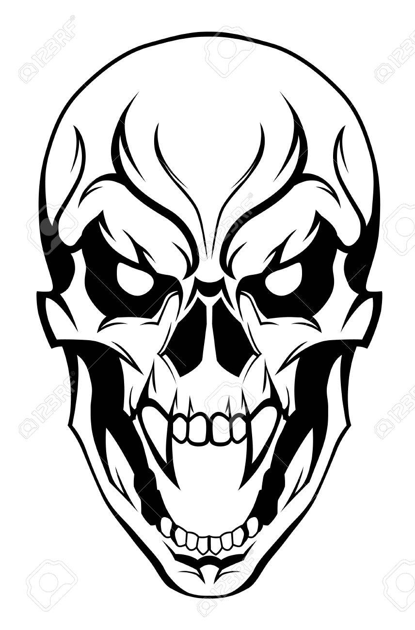 856x1300 Evil Skull Stock Photos. Royalty Free Business Images