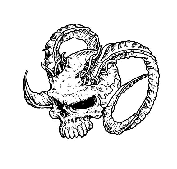 570x545 How To Draw Evil Vector Skulls In Illustrator