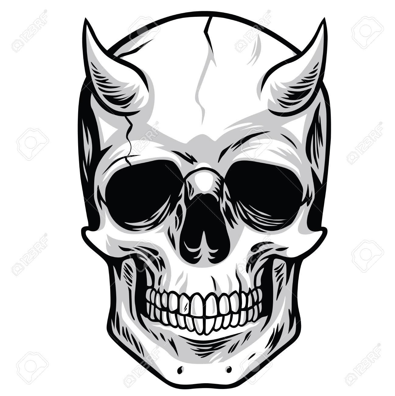 1299x1300 Skull Drawing Stock Photos. Royalty Free Business Images