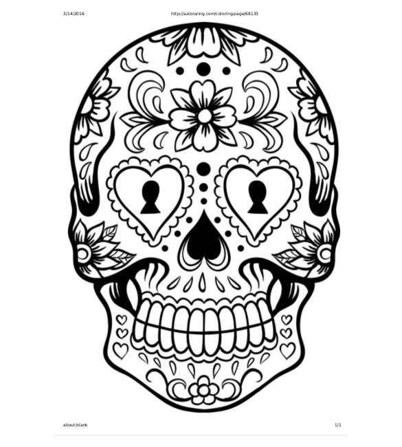585x650 Skull Drawing Template Free Pdf Documents Download! Free