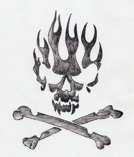 459x537 Drawings Of Skulls On Fire Group