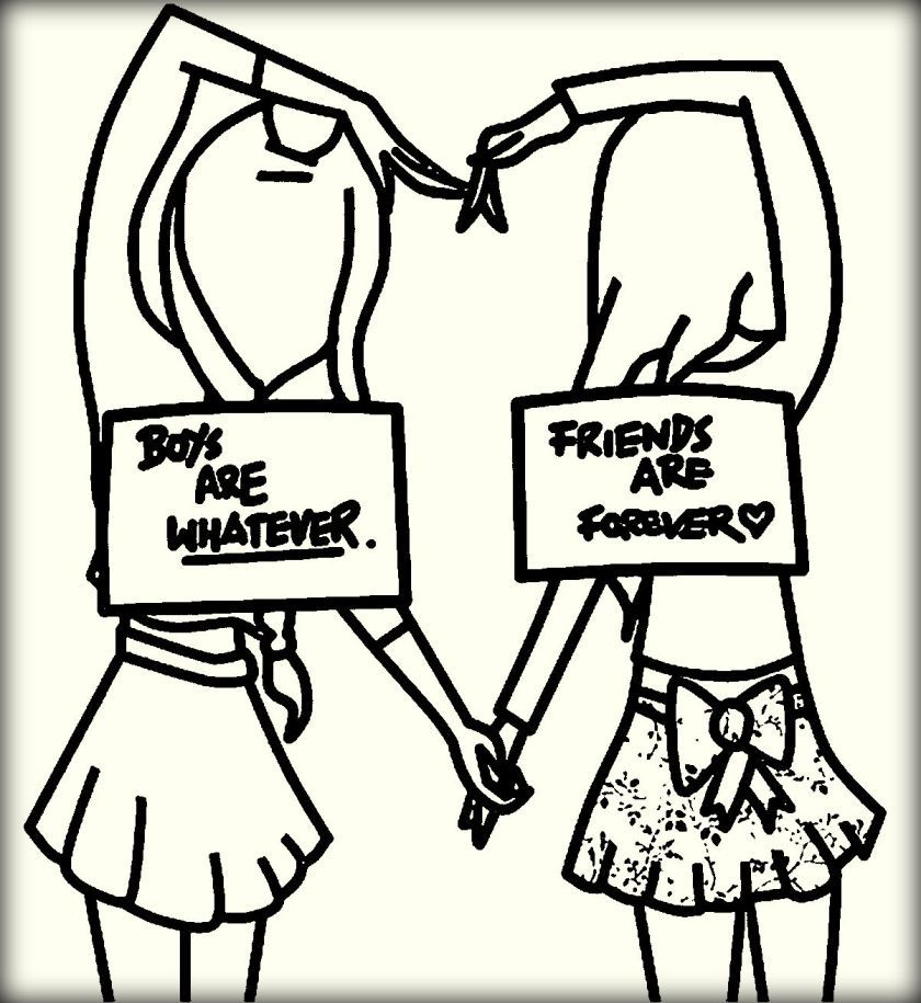 840x915 Photos Cute Bff Drawings To Color,