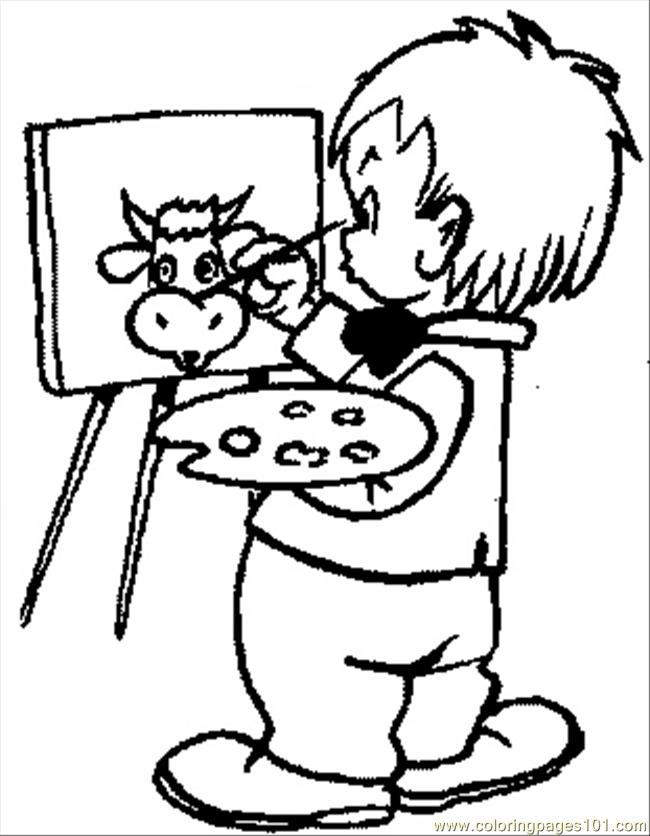 650x836 Free Painting Book 016 Coloring Page Kids Paint