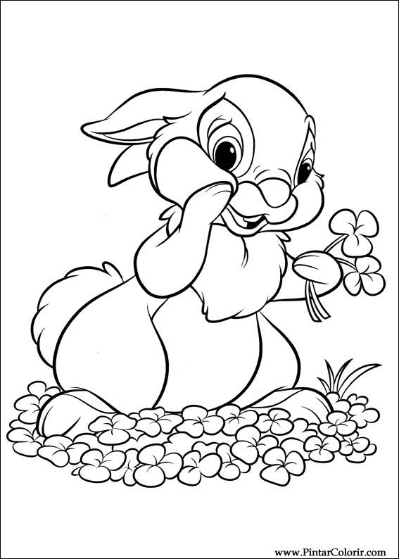 567x794 Drawings To Paint Amp Colour Disney Bunnies