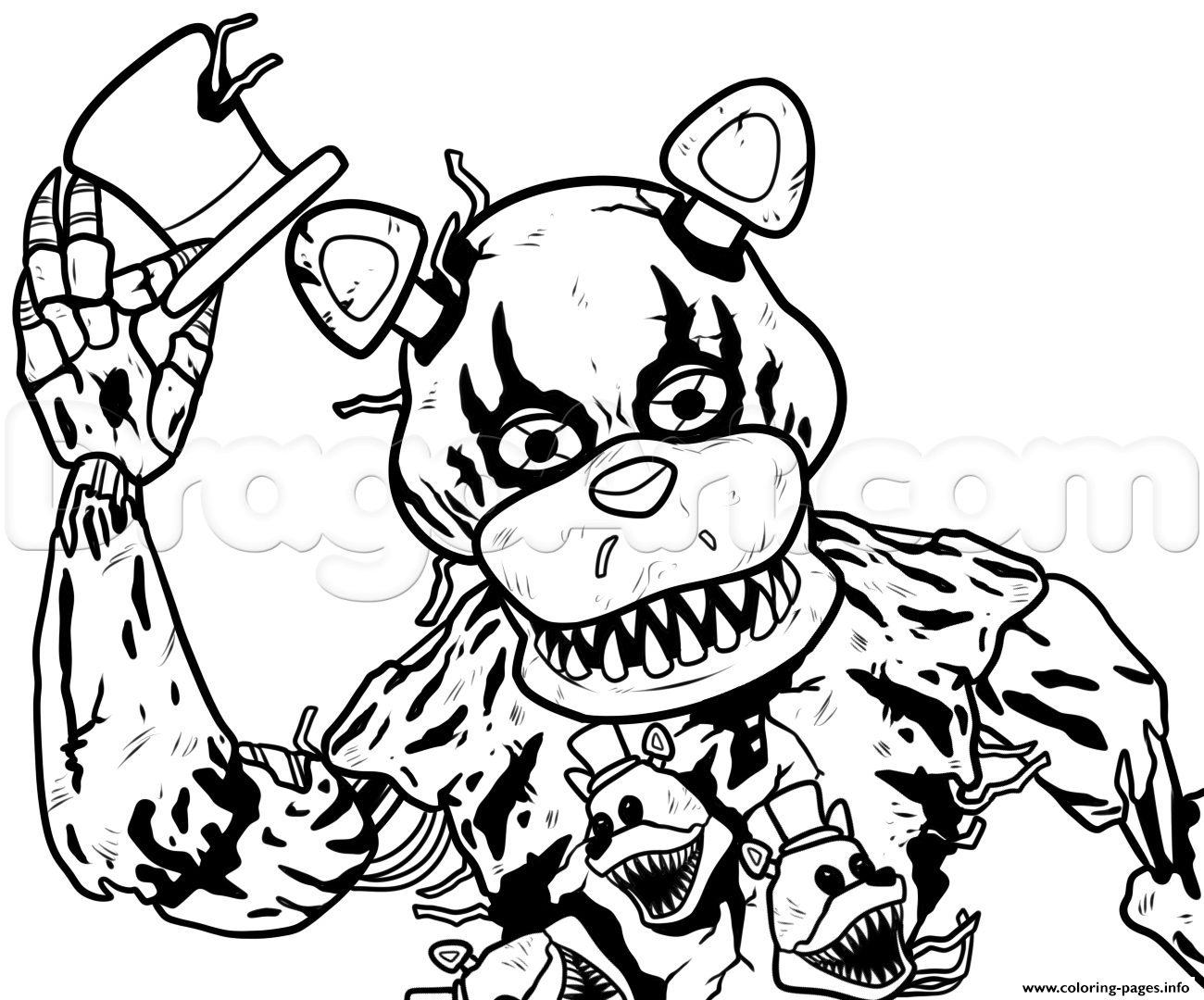 1300x1080 Print Draw Nightmare Freddy Fazbear Five Nights