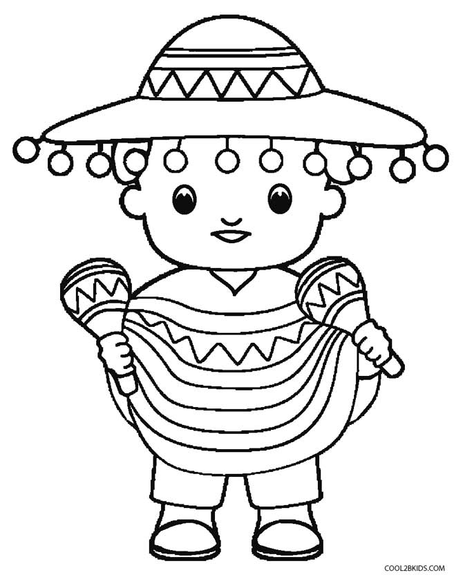 670x848 Printable Cinco De Mayo Coloring Pages For Kids Cool2bkids
